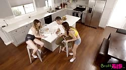 Bratty Sis - Lucky Brother Fucks Step Sister And Her Hot BFF S10:E3